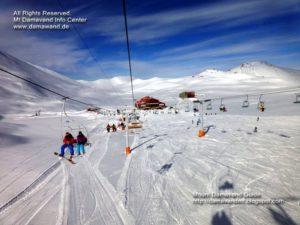 Mt. Tochal Ski Resort and Tochal Ski Lifts near Touchal Peak