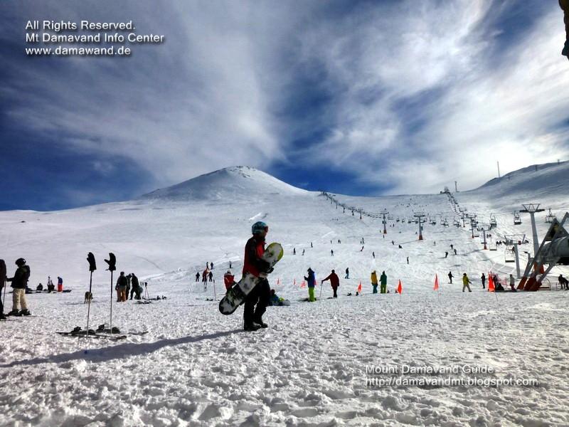 Tochal Ski Field, Mt Tochal Ski Resort Tehran, Iran, Picture Ardeshir Soltani