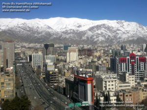 Mount Tochal View from Tehran